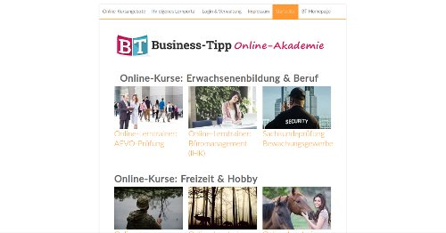 Der Business Tipp Homepage